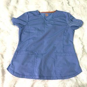Dickies medical nurse doctor scrub top size Large